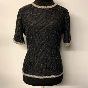 CAbi Coco Shell Terry Boucle Tweed Sweater 542